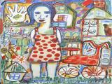 Girl with Red Bike 2011 36x48
