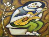 Guitar Player 2009 49x30 oil on linen