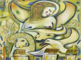 The Grazer with Beasts 2009 36x30 oil on canvas