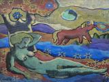 Within the Realm nfs 1997 42x43 oil on linen